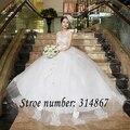 Frete grátis yiiya 2016 novo arco vestido de casamento branco sem alças vestidos de casamento pincess flores vestidos de novia vestidos de baile hs218