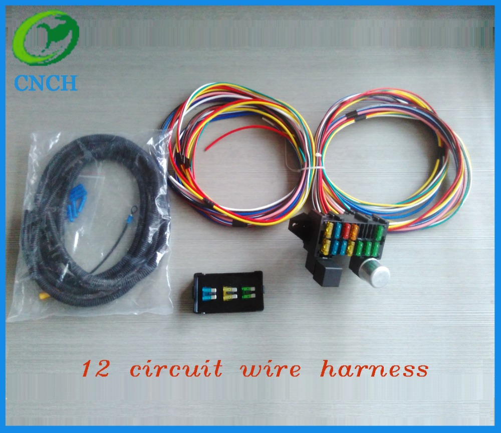 Hot Rod Wiring Harness Waterproof Library Universal Street 12 Circuit Wire Muscle Car New Xl Wires In