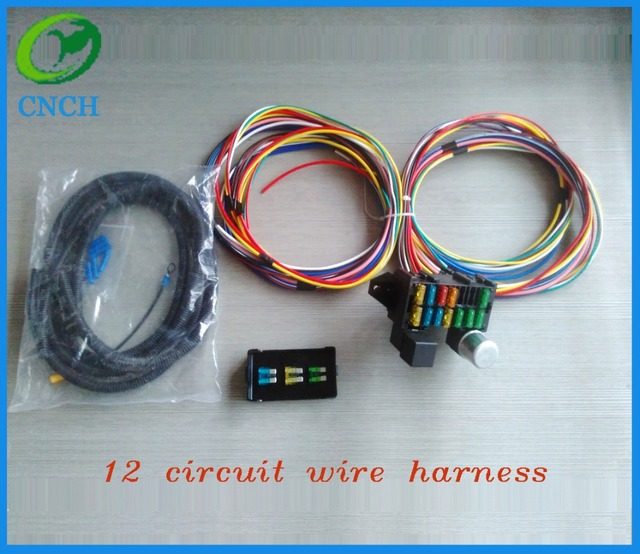 12 CIRCUIT UNIVERSAL WIRE HARNESS MUSCLE CAR HOT ROD STREET ROD NEW on universal fuel tank, universal radio, universal fuse box, universal plug, universal wire wheels, universal fuel pump, universal steering column, universal ignition switch wiring, universal fuel filter, universal turn signal, universal wire connector, universal motor, universal transformer, universal wire nut, universal controller, universal adapter, universal console, universal tools, universal mounting bracket, universal muffler,