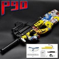 New Updated P90 Graffiti Edition Electric Toy GUN Water Bullet Bursts Gun Live CS Assault Snipe Weapon Outdoor Pistol Toys