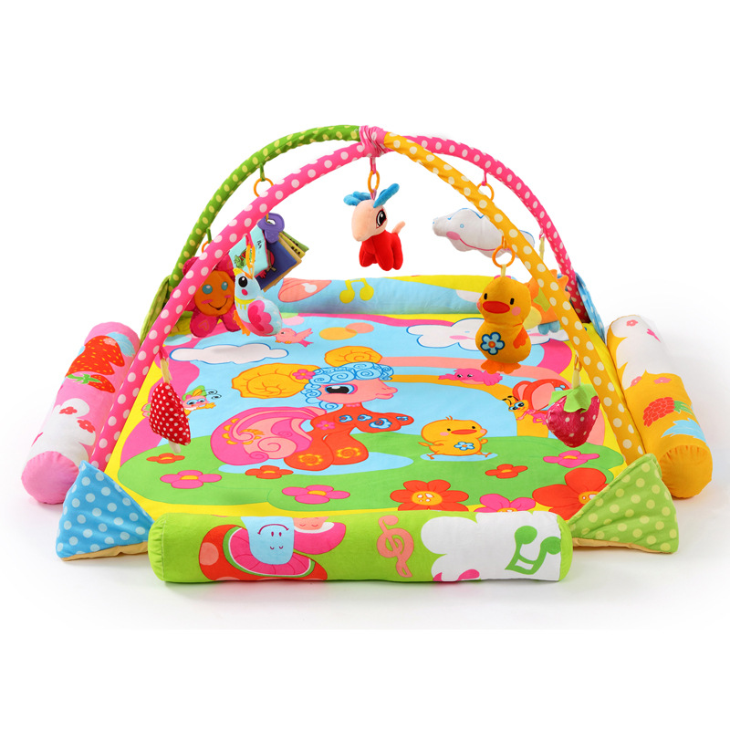 Sun clouds Sheep bird chicks flowers Soft Play mat Blanket Pad twin Fitness Frame Educational Baby Toys Climb Crawling Baby Gym цена 2017