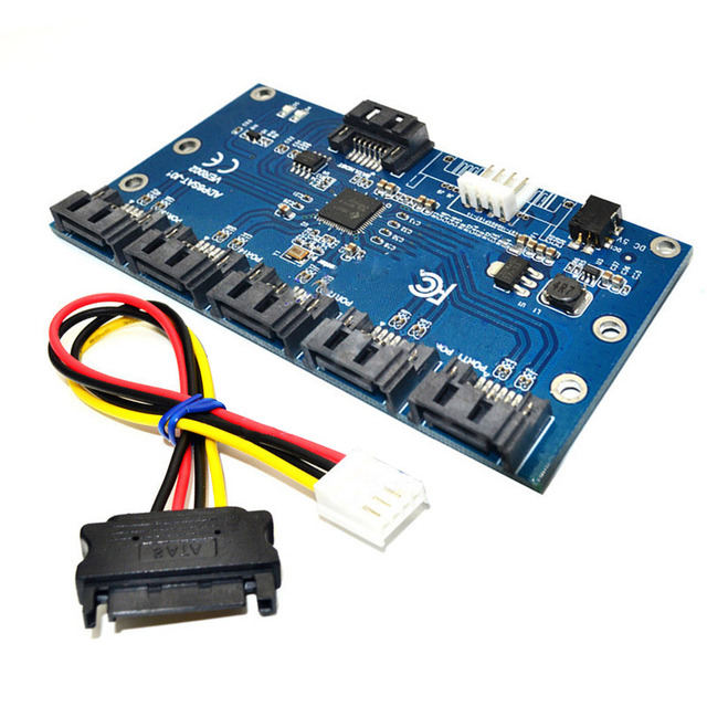 New adapter card sata 1 to 5 port converter sata port - Porta hard disk sata ...