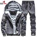 Otoño invierno sudaderas con capucha hombre chaqueta marca clothing moda hombre casual slim fit camisas y sudaderas de chándal sportsuit 2 unids conjunto