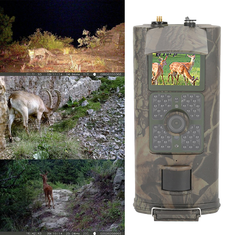 <font><b>HC700G</b></font> 940nm Infrared Hunting Track Camera 16MP <font><b>3G</b></font> GPRS MMS SMTP SMS 1080P Night Vision Wildlife Scouting Cam Hunter image