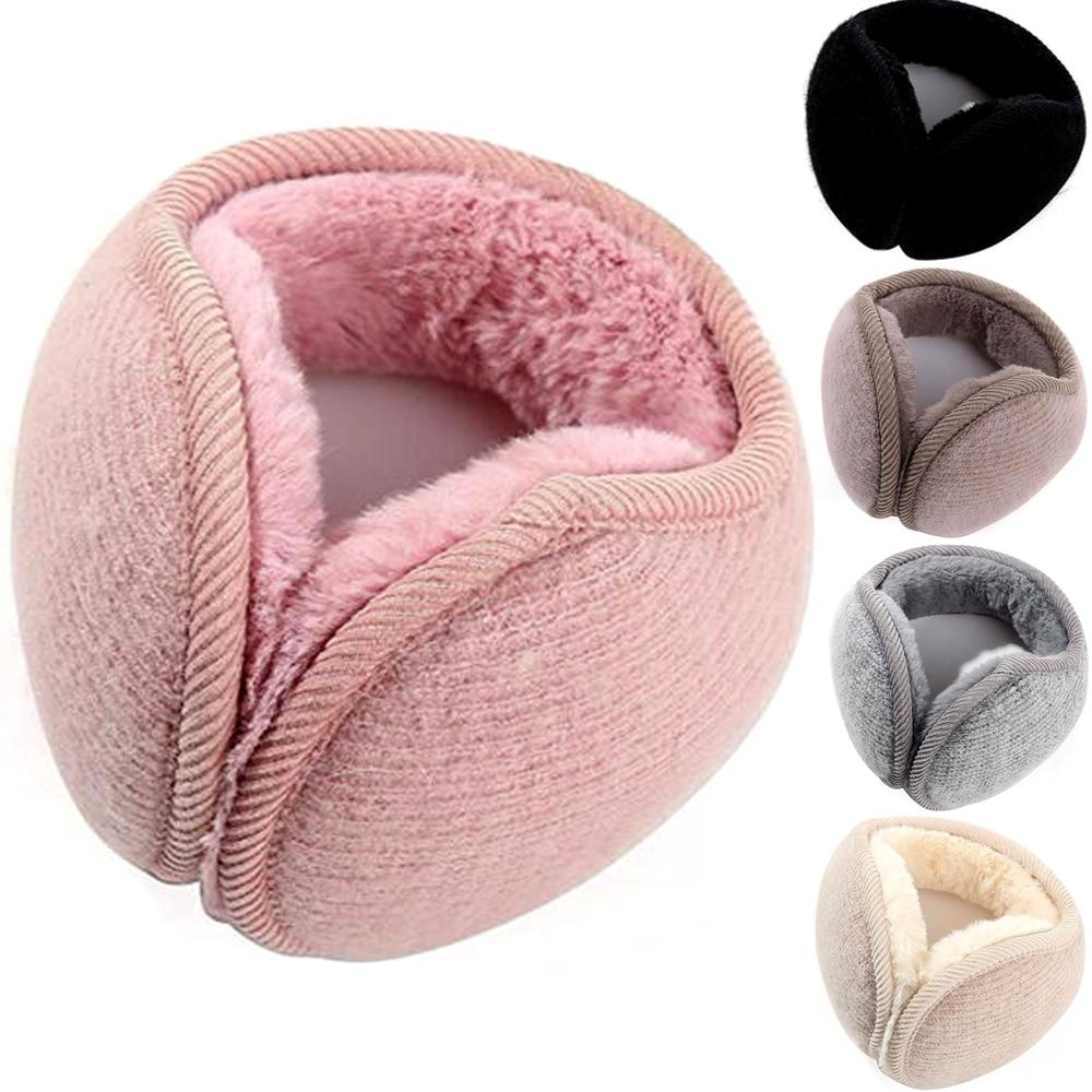 Fashion Men Women Winter Warm Solid Earmuffs Adjustable Ear Warmer Soft Ear Muffs