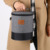 DUDINI Gris Llevar Bolsas de Almuerzo Bolsas de Comida de Moda Multifunción Mujeres Oxford Paño Pequeño Barril Forma de Aislamiento Bolsa de Picnic