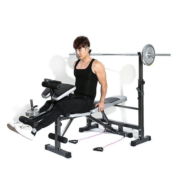Slimming multi station weight bench press incline flat decline sit