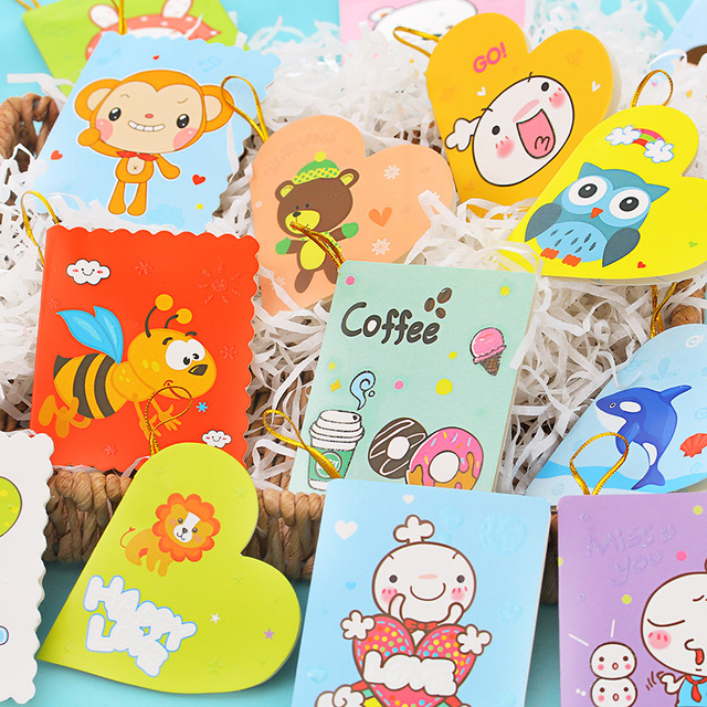 20pcslot Creative Childrens Card Birthday Wishes Small Card Mini