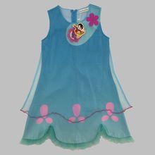 2017 Trolls Robe Enfants Fille Net fil Robe D'été Filles Costumes Pour la Partie Enfants pavot dentelle Robes Enfants Princesse Robe