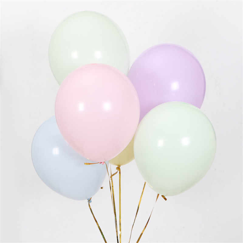 10pcs Mix Color Macaron Latex Balloons Wedding Birthday Party 2.2g Pink Mint Rose Air Helium Latex Baby Decor Baby Shower Girl