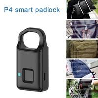 Smart Electronic Padlock Fingerprint Password Lock Travel Suitcase Home Access Control LCC77