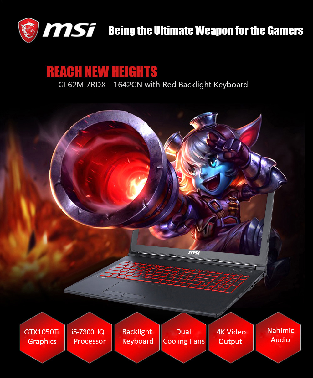 MSI GL62M 7RD introducción