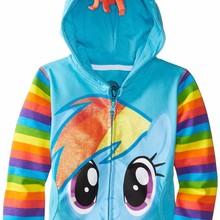 Новое пальто для девочек с принтом «Маленький Пони» детская хлопковая куртка на осень и весну детские толстовки с капюшоном с персонажами фильма «мстители», верхняя одежда для мальчиков