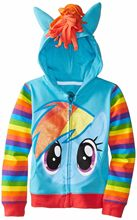 New Girls Little Pony Coat Kids Cotton Autumn And Spring Jacket Children Cartoon avengers Hoodies Outerwear Boy's Clothes(China)