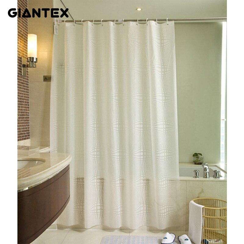 GIANTEX Weiß Ball Muster Bad Vorhang Wasserdicht Dusche Vorhänge Für Bad Cortina Ducha rideau de douche douchegordijn