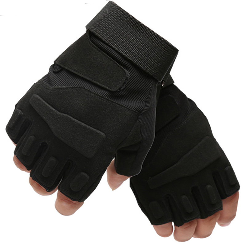 Tactical Military Gloves Men Army SWAT Gear Combat Paintball Half Finger Gloves Outdoor  ...