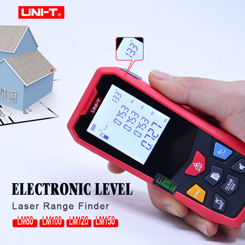 UNI-T Electronic level laser distance meter measure Laser Range Finder LM80/LM100/LM120/LM150 laser measure toolUNI-T Electronic level laser distance meter measure Laser Range Finder LM80/LM100/LM120/LM150 laser measure tool