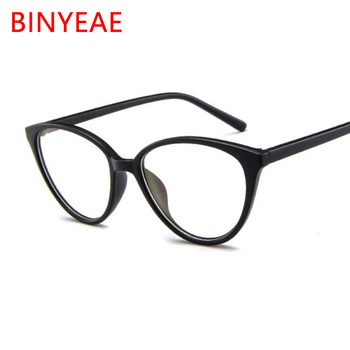 2018 Spectacle Frame Small Cat's Eye Glasses Frame Clear Lens For Women Brand Glasses Myopia Nerd Black Red Sunglasses Frame