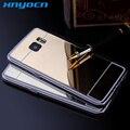 Cobertura de luxo Para Samsung Galaxy Caso S7 S7 Borda do Espelho alumínio borda TPU tampa Traseira Do Telefone para samsung galaxy s7 acessórios