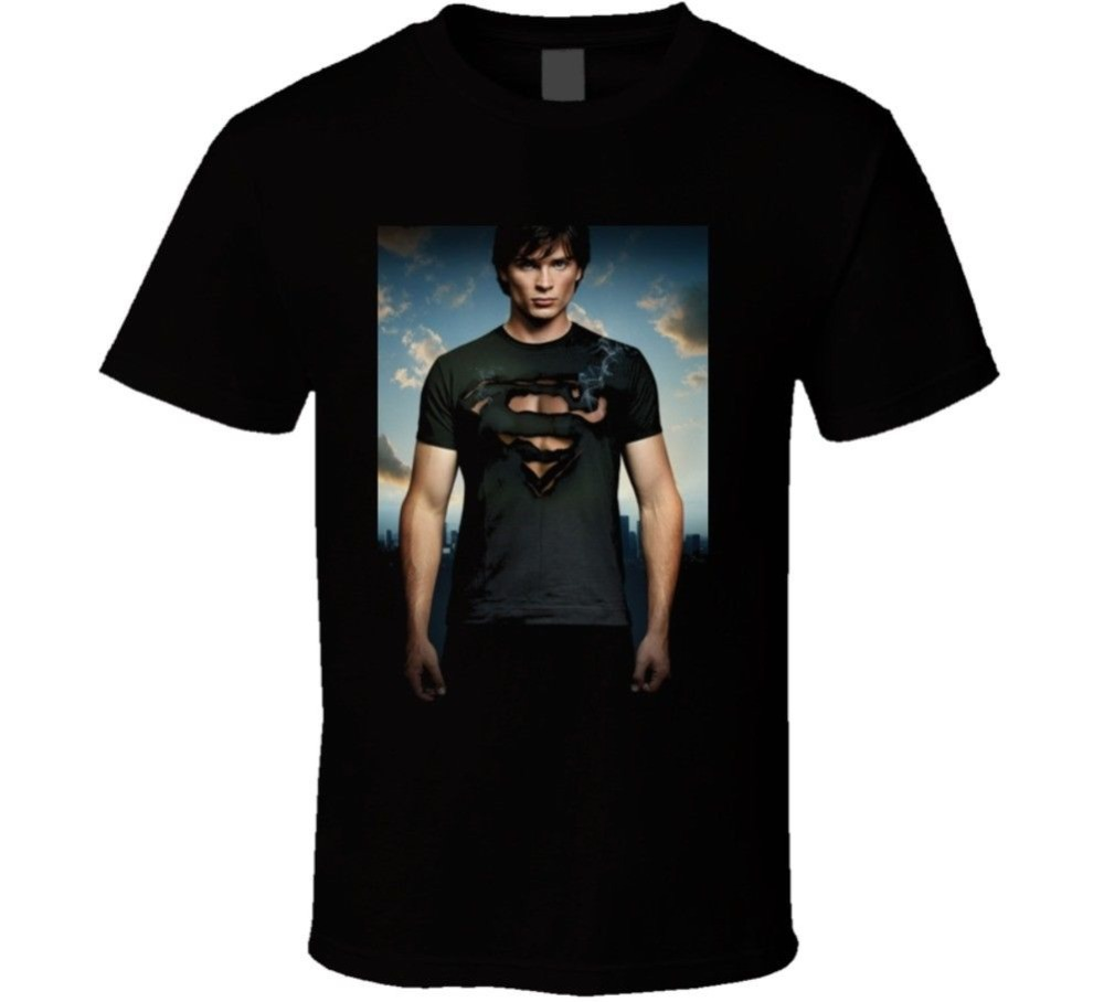 Boutique T Shirts Crew Neck Men Funny Short Sleeve Smallville Burning T Shirt