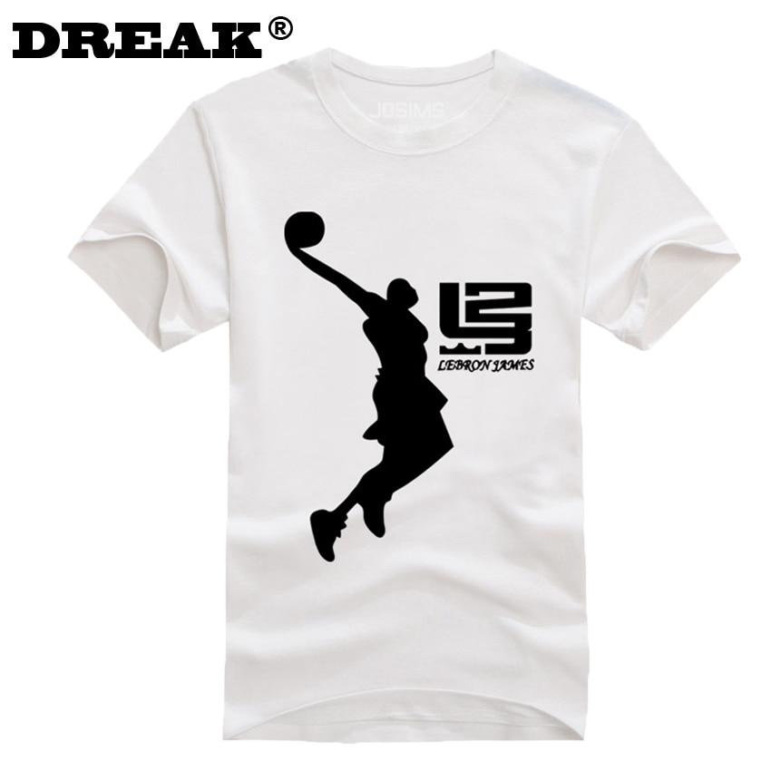 e273cead1 DUZJIAN verão novo Cavaleiro de LeBron James homens T-shirt de algodão  musculação camisa para crianças camisa compressão maillot de cesta