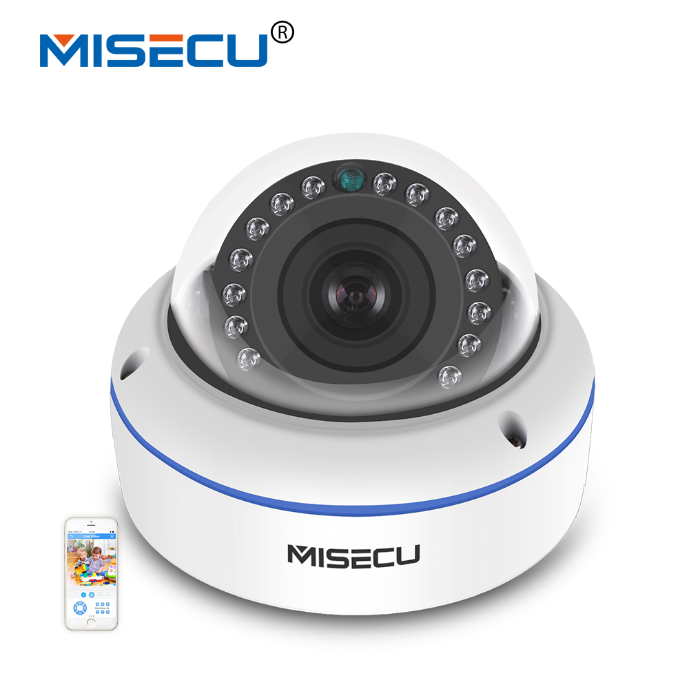 MISECU Vandalproof 2.8/3.6mm wide angle 1MP/1.3MP/2MP Onvif P2P 720P/960P/1080P IP Camera IR Night Vision RTSP FTP Mobile view