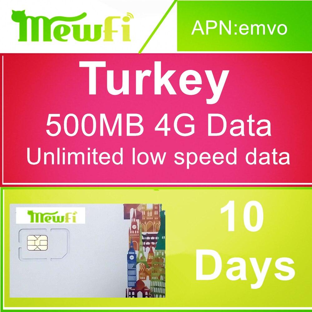 Turquie carte Sim 10 jours 500 mo 4G données quotidiennes illimitées à faible vitesse valables avant 20th July