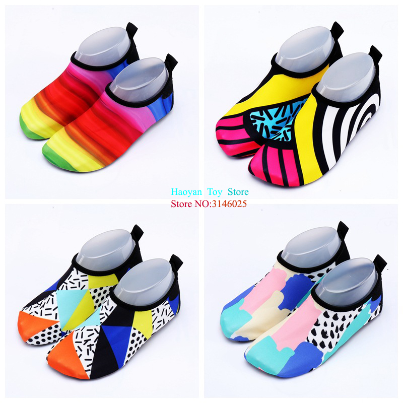 Summer Slippers Big Size Beach Shoes Non-slip Breathable Boys And Girls Baby Swimming Wa ...