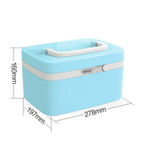 Locked Safe Home Medical Storage Bag Health Care Aid Boxer Plastic Mini Cipher Medicine Box Drug Collection with Password