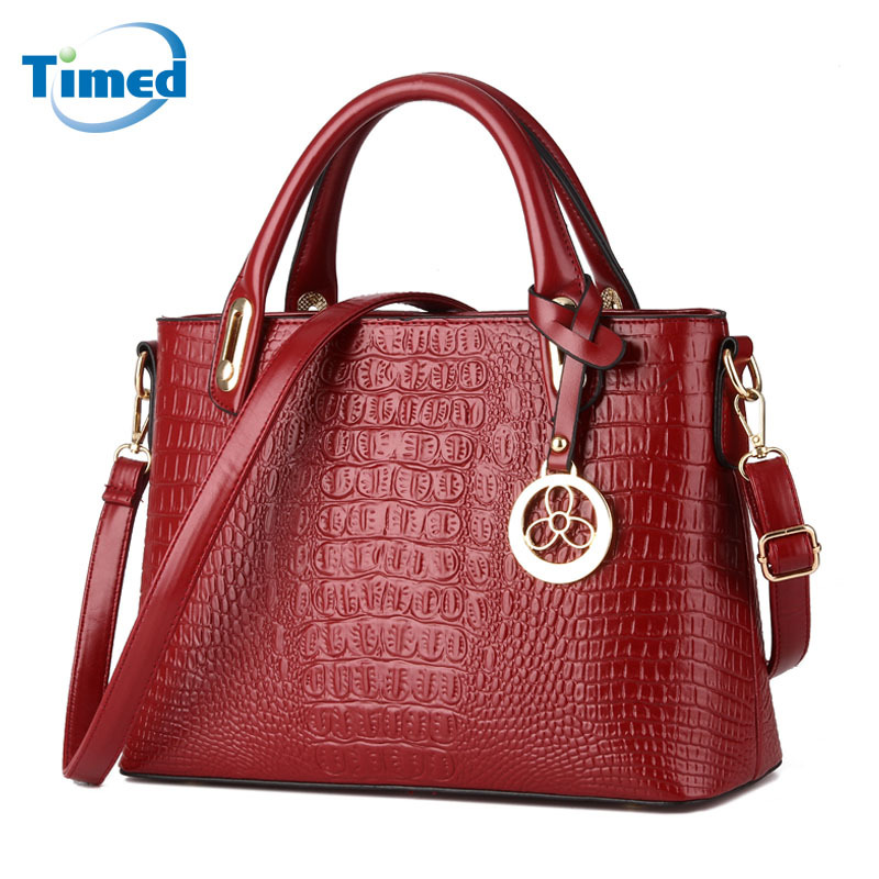 Women's Bags 2018 New Europe Style Shoulder Messenger Bag For Ladies Crocodile Fashion Big Handbags Female Tassel Totes europe and american style big bag new fashion atmosphere simple ladies shoulder messenger bags women genuine leather handbags
