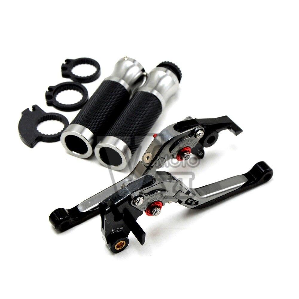 ФОТО FOR honda cbr 600 f4i f4 f3 f2 ducati 848 999 triumph daytona765r 09-12 CNC Folding Brake Clutch Levers&Handlebar Hand Grip Set