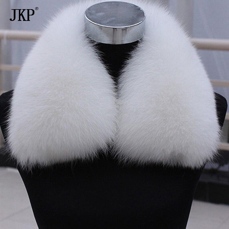 Nový 100% přírodní kožešinový límec luxusní liška z kožešinového límce prsten šála ženy originální stříbrný límec z lišky pro velkoobchod