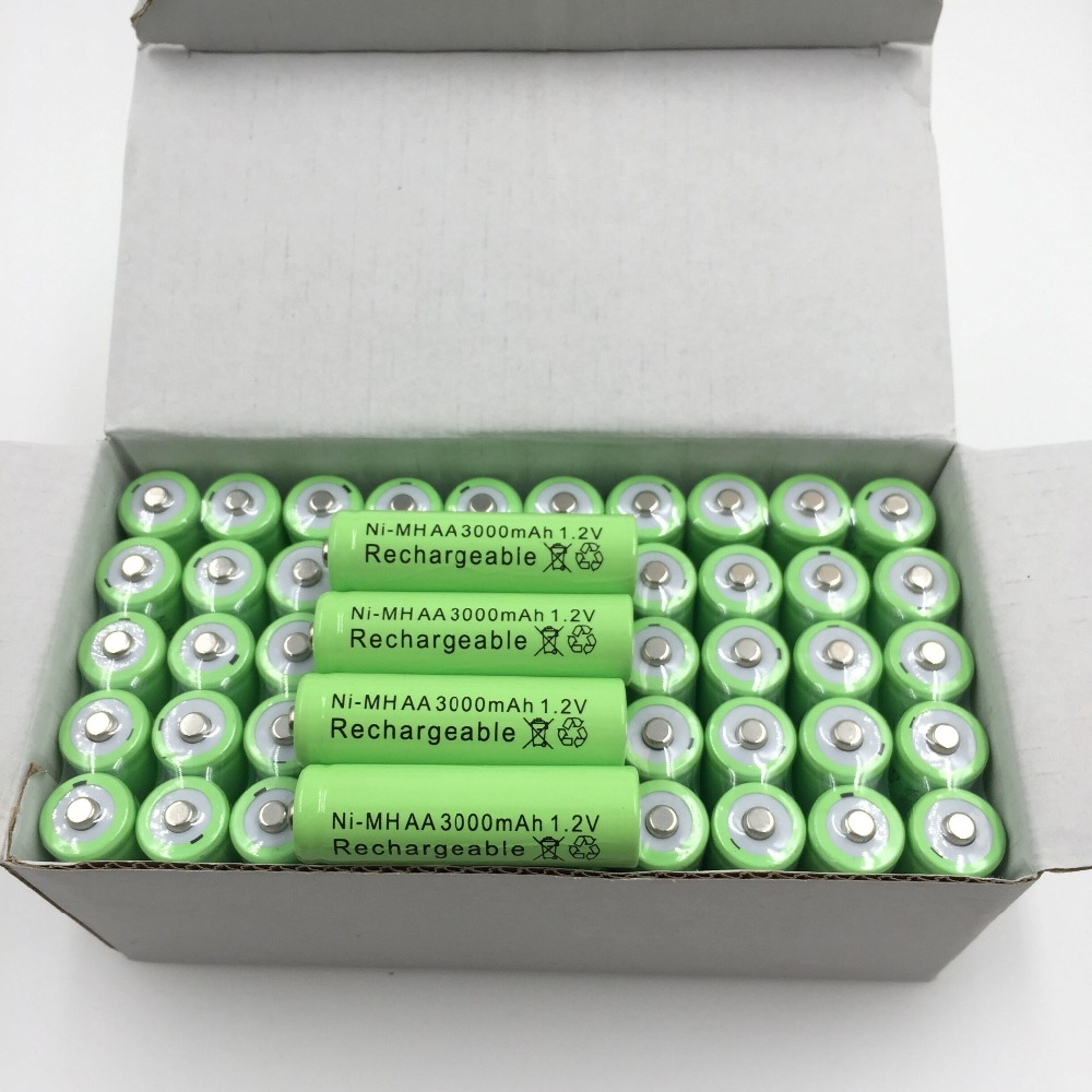 DaweiKala 10pcs New AA 3000mAh Rechargeable Battery AA NI-MH 1.2V Rechargeable 2A power Baterias for camera toys new 1 pcs battery for ryobi 14 4v ni cd 2 0ah rechargeable power tool 1314702 1400656 1400671 130224010 battery vhk29 t10