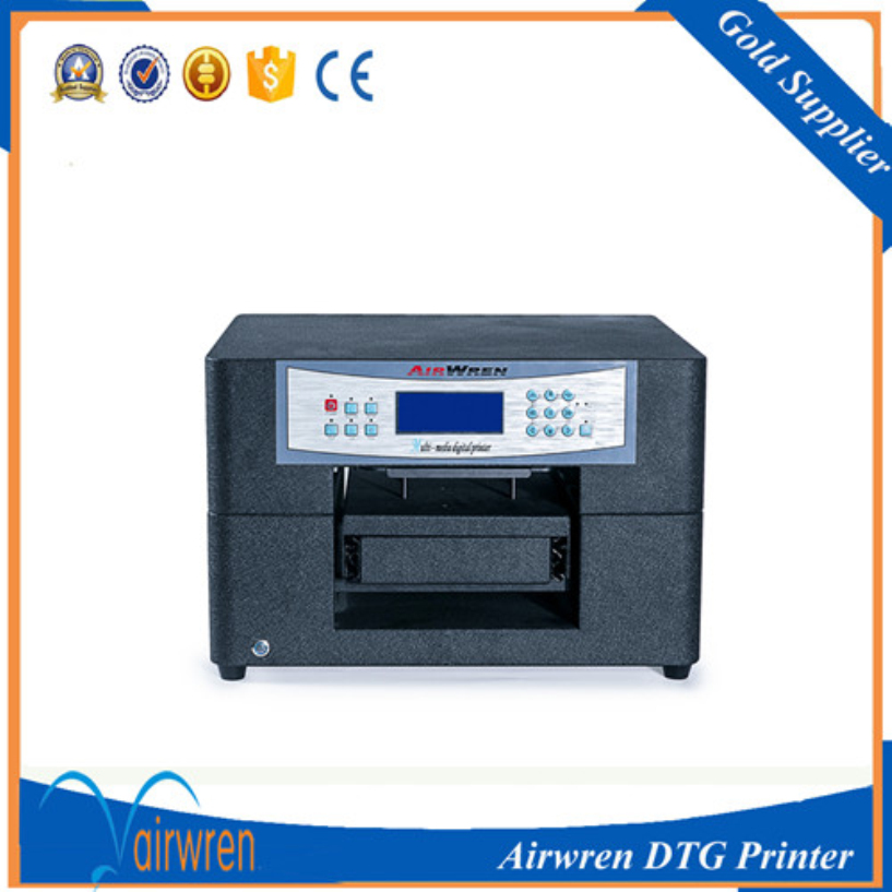 new technology flatbed inkjet  t shirt printer fabric  printing machine for black and white t shirt