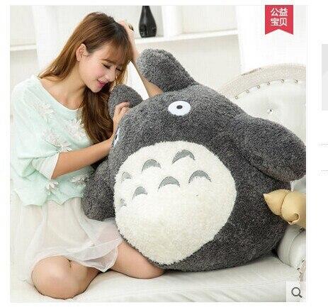 Livraison gratuite, environ 60 cm dessin animé Totoro peluche jouet gris foncé totoro poupée, oreiller, cadeau de noël w4704
