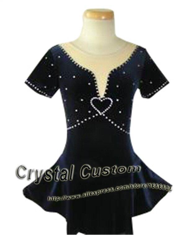 Offres spéciales robes de patinage sur glace avec strass adulte Spandex belle nouvelle marque Vogue robe de compétition de patinage artistique DR2510
