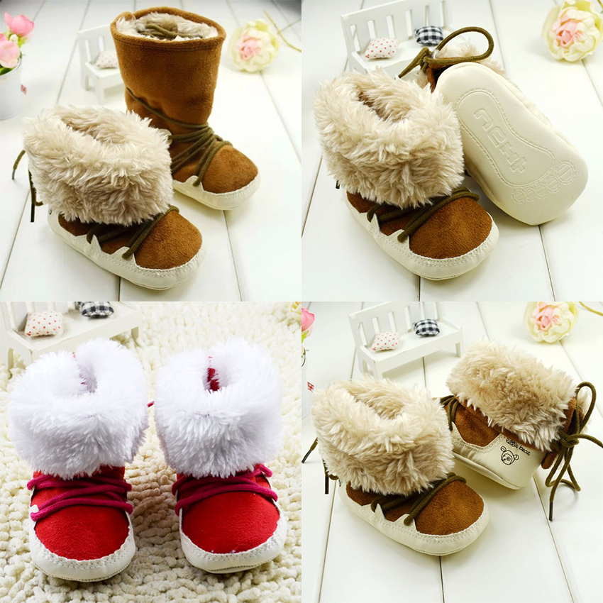 Free Shipping 1pair FASHION First walkers Shoes Snow Boots Winter warm Childrens boot ,  ...