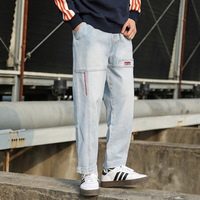 New Arrival Vintage Multi Pockets Cargo Pants Men Casual Harem Jeans High Street Fashion Losse Denim Joggers Mens Trousers 5XL