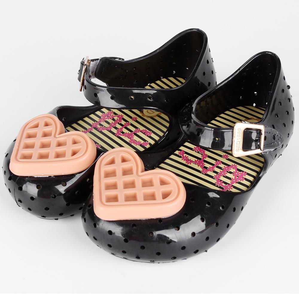 Melissa 2018 New Kids Mini Sandals Sweet Children Beach Sandal Cute Mouse Buckle Strap Soft PVC Girls Shoes