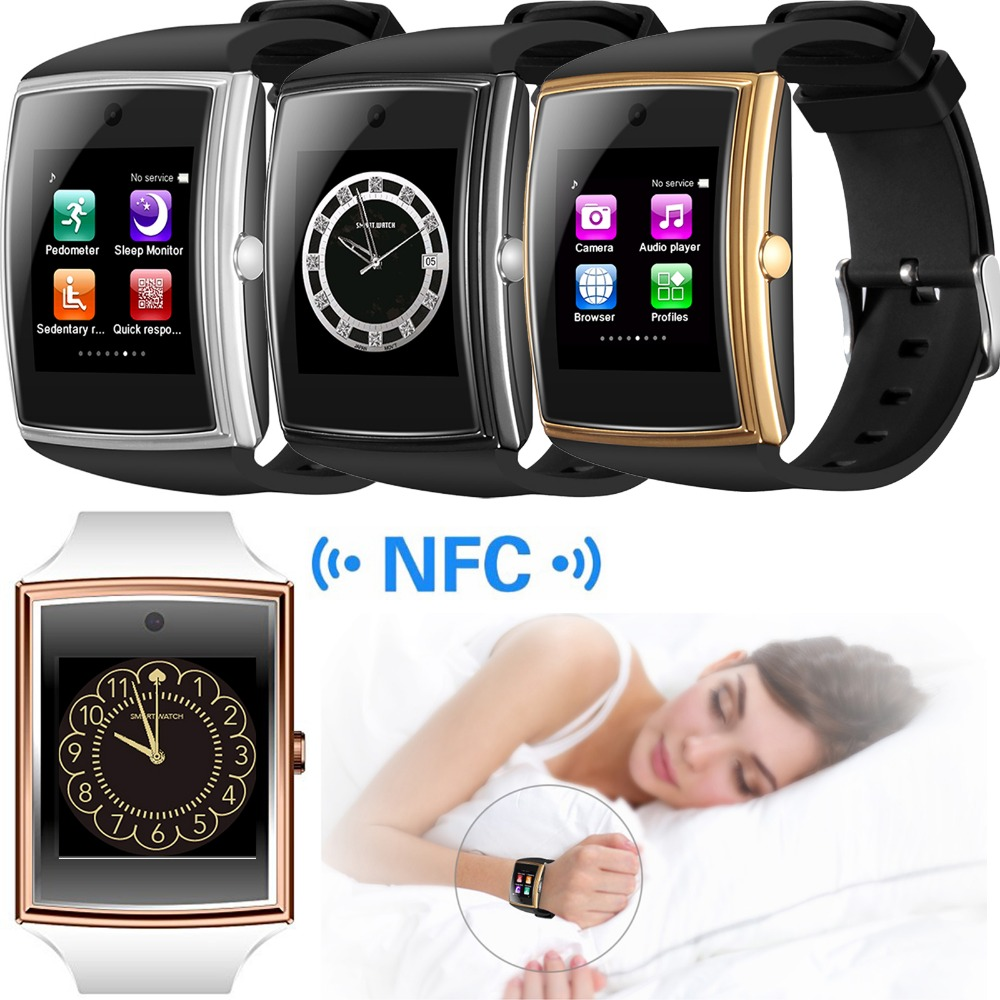 Back To Search Resultsconsumer Electronics Nfc Screen Touch Bluetooth Smart Wrist Watch Phone For Android Samsung S8 S7 Motorola Z Lg G5 Htc Huawei Lenovo Iphone 7 Plus Wearable Devices
