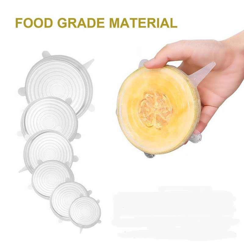 Eco-Friendly Silicon Stretch Lids Food Cover Universal Lid Silicone Food Wrap-bowl Pot Lid-silicone Cover Kitchen Food Grade