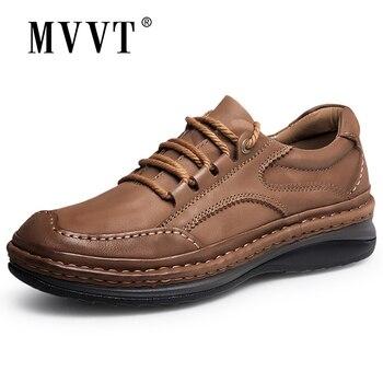 Mvvt Musim Dingin Retro Pria Boots Kualitas Kulit Asli Boots Pria Musim Dingin Sepatu Bot Fashion Platform Pria