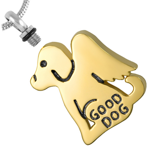 Good Dog Angel Urn Necklace