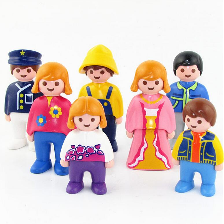 Original Playmobil Enfant Figures Roleplay Toys Figuras Princess Mini Figure Playmobil Kids Children Statue Landscape Model Toy