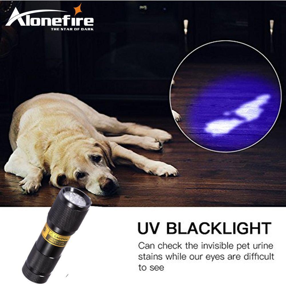 все цены на Alonefire SUPERIA 9LED 365nm UV Light LED Flashlight /Ultraviolet light for uv leak detector (365nm Best world ultraviolet lamp) онлайн