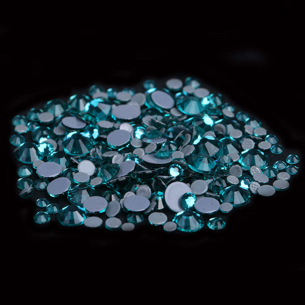 a1a065e56c73 Clothes Shoes Dresses DIY Decorations Blue Zircon Hotfix Strass Rhinestones  Glue Backing Iron On Crystal Diamonds-in Rhinestones   Decorations from  Beauty ...