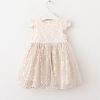 Vieeolove Baby Girls Kids Dresses Clothing Tutu Lace Dress 2018 New Summer Dresses Childrens Floral Sequins