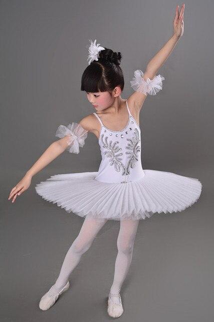 79d0640de155 White Black Pink Diamond Ballet Dress Children Swan Lake Ballet ...