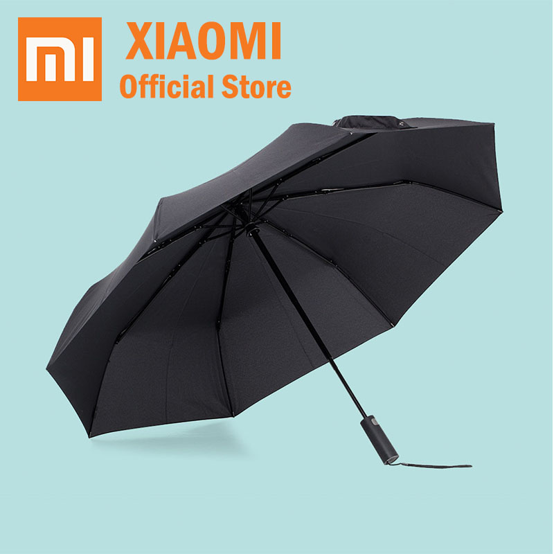 Constructive Xiaomi Mijia Automatic Umbrella Sunny Rainy Aluminum Windproof Waterproof Uv Parasol Man Woman Summer Winter Sunshade Fancy Colours Smart Electronics Smart Remote Control