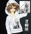 1/3 SD17 uncle BJD SD Doll accessories Bjd clothes white  hoodie